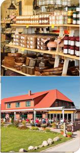Restaurant, Konditorei und Cafe im Müritzer Bauernmarkt in Klink